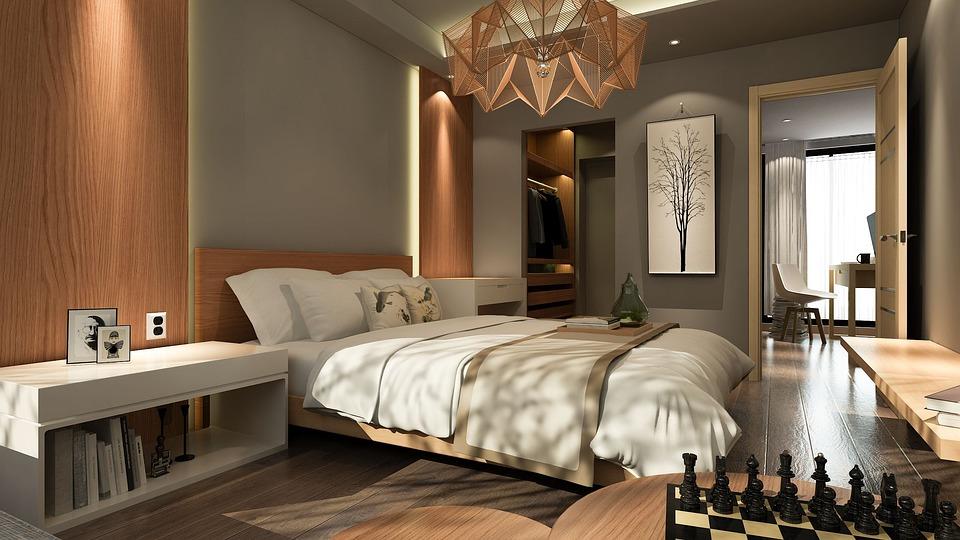 infografía virtual dormitorio