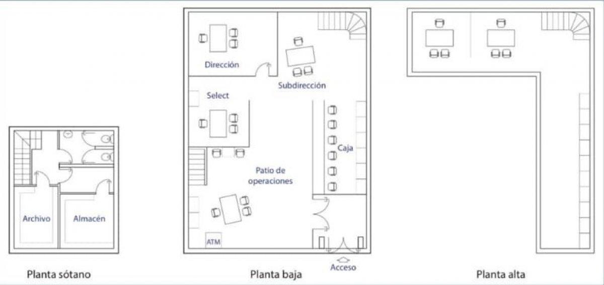 ALQUILER DE LOCAL DE 265 M2 EN GRAN VÍA, 150 M2 EN PLANTA, 1º 68 M2, SÓTANO 48 M2